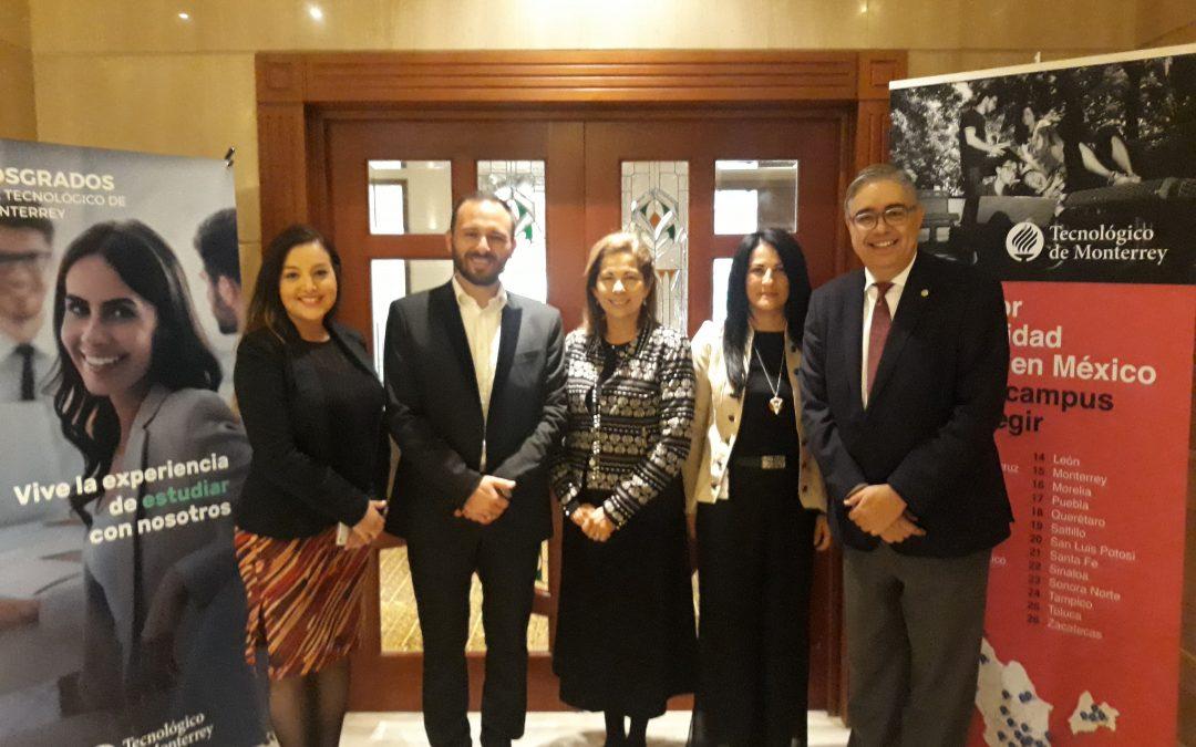 Celebramos convenio de nuestro aliado estratégico el Tecnológico de Monterrey con la Universidad de Los Andes y la Universidad Católica de Chile